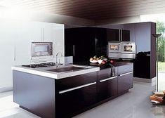 cocinas integrales modernas en color chocolate