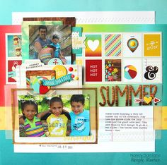 Summer - Scrapbook.com - Made with the Simple Stories Good Day Sunshine collection.