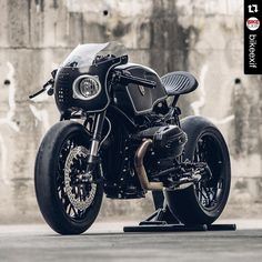 """Sick.  Repost @bikeexif ・・・ @winston_yeh of Rough Crafts calls this the 'Bavarian Fistfighter,' http://www.bikeexif.com/rough-crafts-bmw-r-ninet…"""
