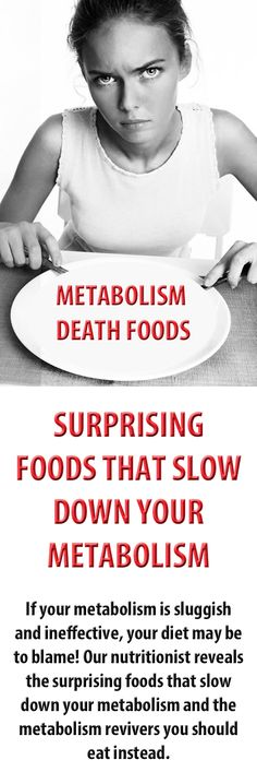 If your metabolism is sluggish and ineffective, your diet may be to blame! Nutritionist Josh Axe reveals the surprising foods that slow down your metabolism and the metabolism revivers you should eat instead... #nutrition #metabolism #healthyeating #weightloss #loseweight
