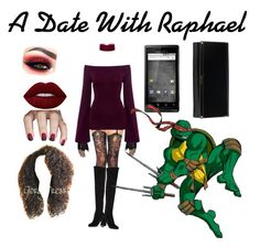 """""""A Date With Raphael TMNT"""" by birthstone-turquoise ❤ liked on Polyvore featuring art"""