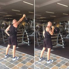 Today's exercise is Landmine Single Arm Press. Try super setting this exercise with Wall Balls. Super Sets, Workout Routines, Fitness, Balls, Arm, Exercise, Friends, Happy, Life