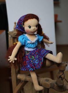 Dívenka v modrém, panenka plněná ovčí vlnou, Ekopanenky.cz Dolls, Home Decor, Baby Dolls, Decoration Home, Room Decor, Puppet, Doll, Home Interior Design, Baby