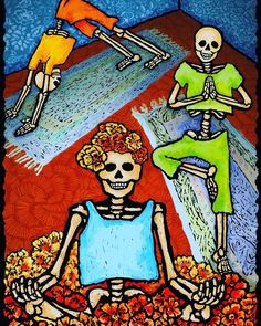 Yoga Dia de los Muertos style! Our Day of the Dead wellness retreat begins October 31! Check our site for upcoming events! #LifeSourceRetreats #Yoga #DiaDeLosMuertos #DayOfTheDead #Halloween #Retreat #Wellness #Yoga #Healing #Health #Fitness #Meditation #Body #Mind Soul