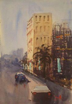 Dubai in Watercolor