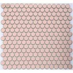 Flirt Pink - Lyric Glazed Porcelain Penny Tile for girls' bathroom Penny Round Tiles, Penny Tile, Mosaic Glass, Mosaic Tiles, Tub Tile, Pink Lyrics, Mosaic Tile Supplies, Pink Tiles, Pink Houses