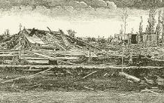 On August 21, 1883, a tornado devastated Rochester, MN. It killed dozens and injured hundreds.  The town was rebuilt, and the events of 1883 lead to the creation of Saint Marys Hospital and the Mayo Clinic.