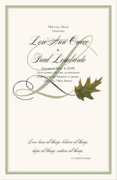 Fall Wedding Program Printable Template Fall Diy Wedding