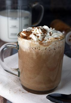 Warm yourself off in the cold months with a delicious mug of home-made pumpkin pie spice latte! | Shared via http://www.ruled.me