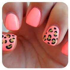 Thinking about getting these done also, just switch the cheetah print to only one nail!