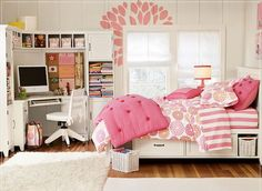 Beautiful teenage girl room decor! #cute #loveit #myfave #dreamroom ❤❤