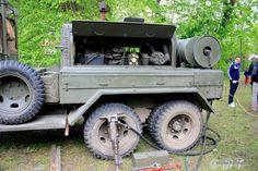 Militair Weekend Hembrug, Zaandam. Zaterdag 9 mei 2015. GMC CCKW-353 (Soft Top) with LE ROI Company - Air Compressor.