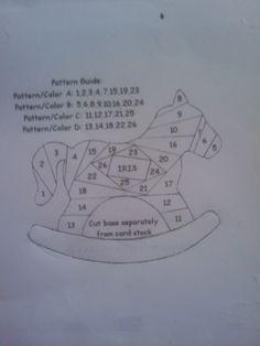 iris folded rocking horse pattern
