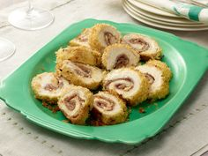 Chicken Cordon Bleu from FoodNetwork.com...just made this today but substituted black forest ham for the proscuitto and baby swiss for the gruyere....AMAZING