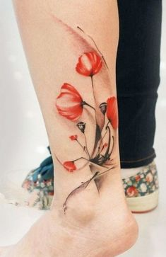 20+ Beautiful Red Poppy Tattoo Inspirations