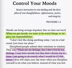 Control Your Moods