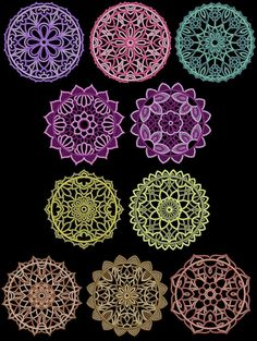 Exotic Lace Doilies Machine Embroidery Designs 4x4 CD LaceDoilies.jpg (800×1062)