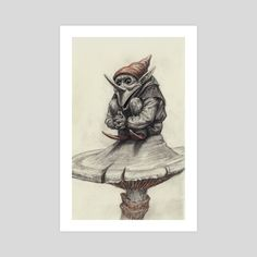 This is a gallery-quality giclèe art print on cotton rag archival paper, printed with archival inks. Gnomes, Tatting, Weird, Art Prints, Gallery, Fictional Characters, Printed, Paper, Cotton