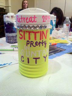 Sorority jug we decorated for new member retreat. Fun craft/activity. AOII.