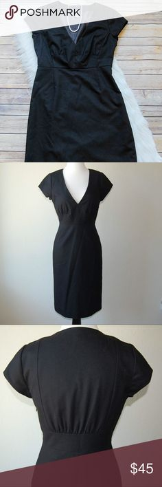 "J. CREW Shift Dress Black cap sleeve Shift dress/sheath. Wool/spandex blend. Lining is 100% polyester. Hidden side zip. Shoulder to hem is 40"".   Instagram: @bringingupsuns J. Crew Dresses Midi"