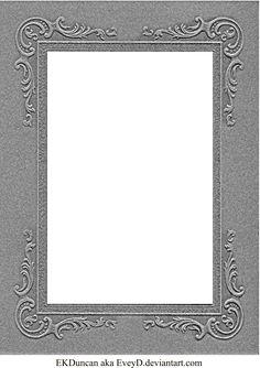 Vintage Cabinet Card Photo Frame Pressboard 1 by ~EveyD on deviantART