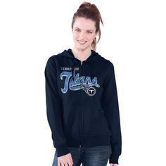 Tennessee Titans G-III 4Her by Carl Banks Women's Wildcat Full Zip Hoodie -  Navy
