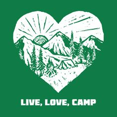A Day In The Perfect Live Love Camp Life - Live Love Camp - T-Shirt | TeePublic.  Take time out from your life and enjoy a perfect day in the live, love, camp adventure. Pack your tent, food, kids and the dog or is it a camping trip for you and your lover. Sit around the campfire, tell scary stories or be silent and listen to the night life. An ideal design for the camping enthusiast or a special gift for your best friend. Perfect Live, Live Love, Food Kids, Scary Stories, Camping Life, Your Best Friend, Special Gifts, Night Life, Tent