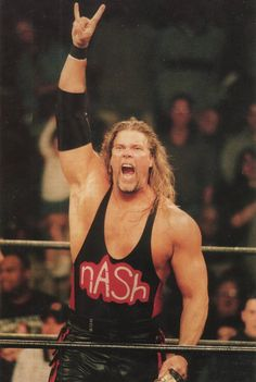 Kevin Nash. Came into WCW with Scott Hall as The Outsiders, which quickly became the n.W.o. when Hulk Hogan turned heel. Big Kev still does an indie show here and there. Not sure if the wrestler formerly known as Diesel can still go, but mic skills never die. Big Sexy Kevin Nash, we speak your name.