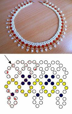 Necklaces Diy Free pattern for necklace Sicily – 0 (also possible use - Free pattern for amazing beaded necklace Sicily The best size of seed beads Beaded Jewelry Designs, Bead Jewellery, Seed Bead Jewelry, Jewelry Making Beads, Jewelry Findings, Seed Beads, Beading Tutorials, Beading Patterns, Bead Crafts