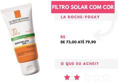 RESENHA FILTRO SOLAR COM >>> Fazia tempo que eu estava com vontade de testar um filtro solar com cor de base, e depois de algumas indicações de produtos diferentes resolvi testar o Filtro da La Roche-Posay.