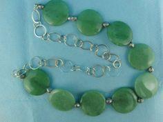 Green Jade Necklace by OswestryJewels on Etsy