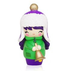 Winter Wonderland hand-numbered <P>Momiji are handpainted resin message dolls. Turn them upside down...inside every one there's a tiny folded card for your own secret message. </P><P>Spread the love.</P><P>All dolls�are approx 8cm (3in) tall.</P>