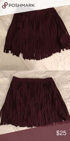 7024256cbd2d Shop Women s BB Dakota size 4 Mini at a discounted price at Poshmark. BB  Dakota fringe suede skirt size Sold by pattiannecav.