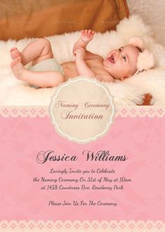 11 Best Naming Ceremony Invitation Images Baptism Party