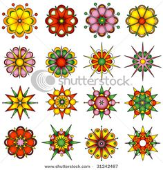 Variety of flower designs