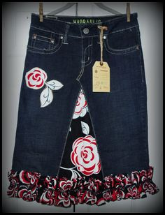 ruffle skirt Jeans Skirt #2dayslook #susan257892 #JeansSkirt www.2dayslook.com