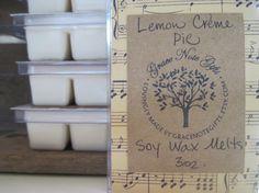 LEMON CRÈME PIE Soy Wax Tarts Lemon Crème Pie by gracenotegifts, $3.50