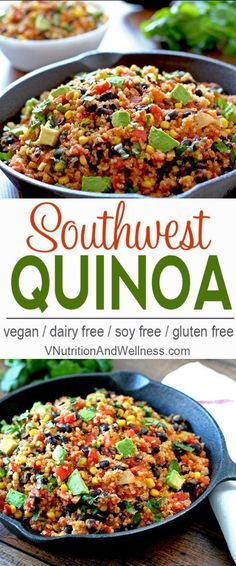 Southwest Quinoa | This easy to make southwest quinoa can be ready in under 30…