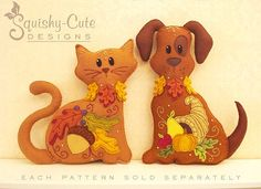 Cat Stuffed Animal Pattern  Felt Plushie Sewing Pattern &