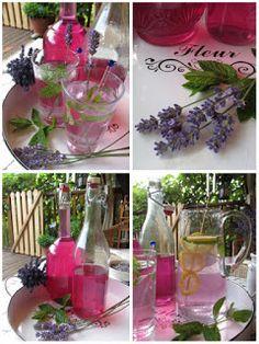 PASTU domov: Levandulový sirup Pavlova, Lavender, Table Decorations, Drinks, Home Decor, Hama, Flowers, Drinking, Beverages