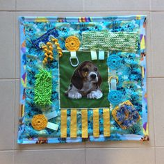 A personal favourite from my Etsy shop https://www.etsy.com/au/listing/579782525/dog-liver-alzheimers-fidget-quilt