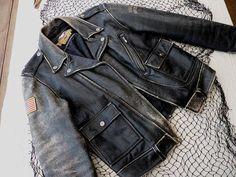 Harley Davidson Vintage Distressed Leather by GoddessesUnlimited