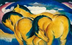 Franz Marc - Little Yellow Horses