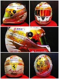 2013 Scuderia Ferrari helmet designed for GP of Monaco