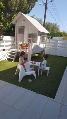 Magically sweet backyard playhouse ideas for kids garden (41)