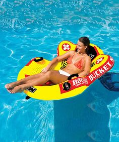 This Bucket Seat Towable Lounge Float by WOW World of Watersports is perfect! #zulilyfinds