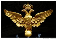 Romonov double eagle from the Hermitage Museum gate