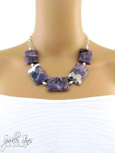 6c4143cde0d7 Purple Gemstone Necklace Purple Stone Necklace by SparklenStones Collares  Con Piedras