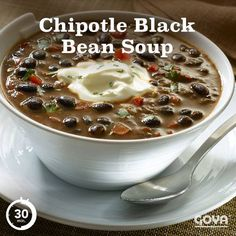 ... your favorite hearty soup with this Chipotle Black Bean Soup recipe