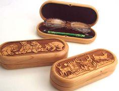 Laser Engraved wood cases - I like the deer one
